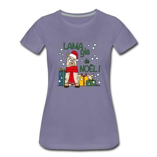 Lama, Magie de Noël, Happy Christmas, Pull moche - T-shirt Premium Femme