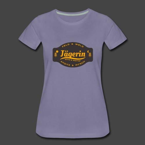 Das Jägerin-Shirt für aktive Jägerinnen - Frauen Premium T-Shirt
