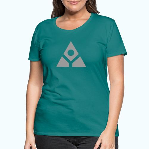 Sacred geometry gray pyramid circle in balance - Women's Premium T-Shirt