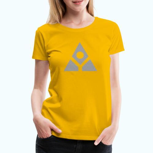 Sacred geometry gray pyramid circle in balance - Women's Premium T-Shirt