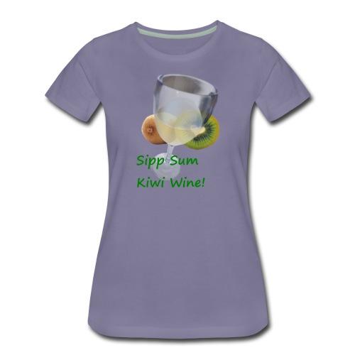 Kiwiwine - Premium T-skjorte for kvinner