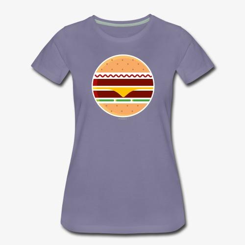 Circle Burger - Maglietta Premium da donna