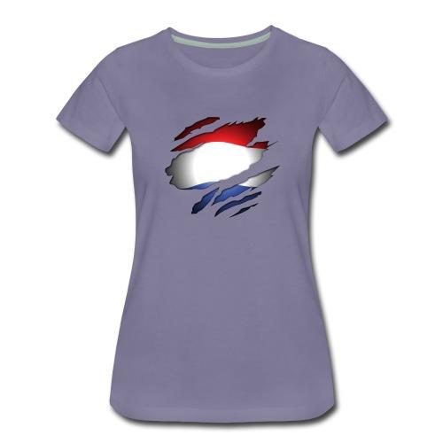 Dutch Inside: Vlag - Vrouwen Premium T-shirt