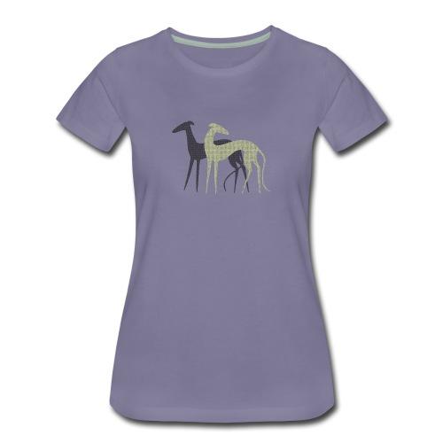 Zwei Windhunde - Frauen Premium T-Shirt