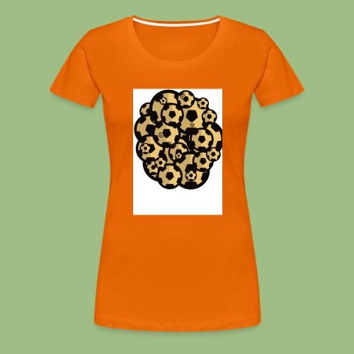 Fotball of footballs - Premium-T-shirt dam