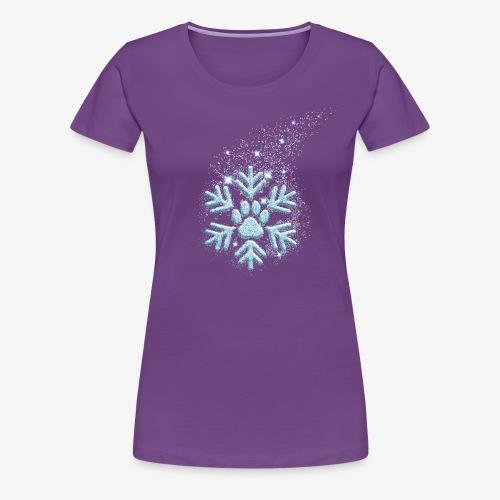 dog paw snowflake - Frauen Premium T-Shirt