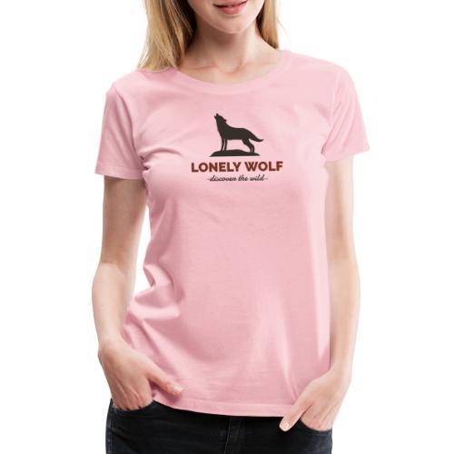 Lonely Wolf - Frauen Premium T-Shirt