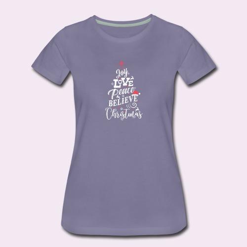 Merry Christmas Weihnachten Tannenbaum T-Shirt - Frauen Premium T-Shirt