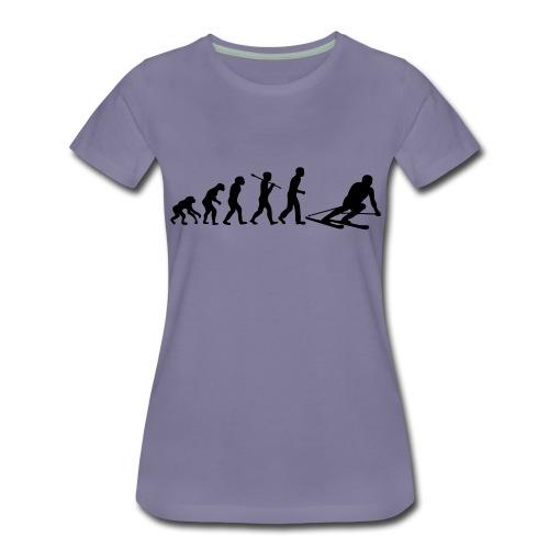 evolution ski - T-shirt Premium Femme
