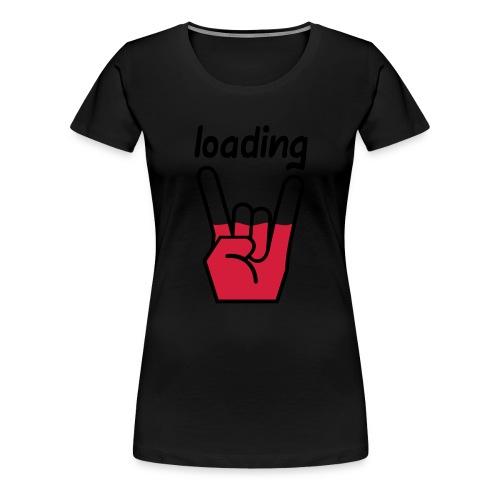 Rockdevil is Loading - Frauen Premium T-Shirt