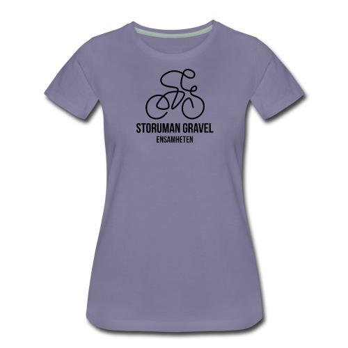 Storuman Gravel / Svart - Premium-T-shirt dam