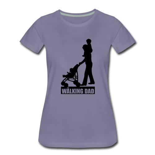 Walking Dad 2 huckepack - Frauen Premium T-Shirt
