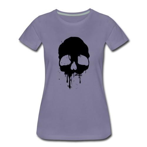 black skull - Frauen Premium T-Shirt
