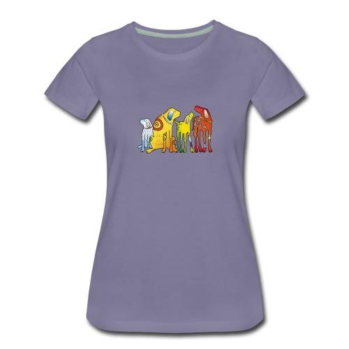 Hunde Meute Pinscher beste Freunde treues Haustier - Women's Premium T-Shirt