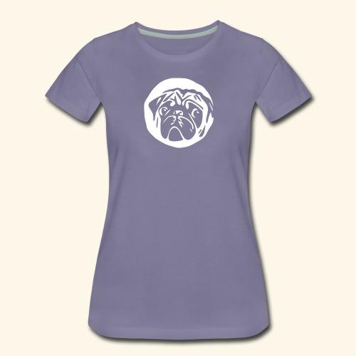 mops shirt schwarz - Frauen Premium T-Shirt