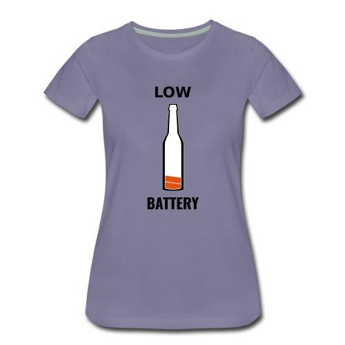 Beer Low Battery - T-shirt Premium Femme