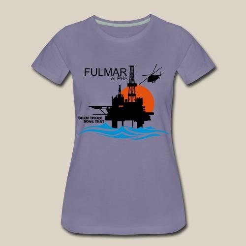 Fulmar Alpha Oil Rig Platform North Sea Aberdeen - Women's Premium T-Shirt