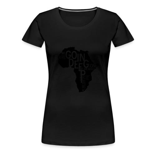 africa_continen - Women's Premium T-Shirt