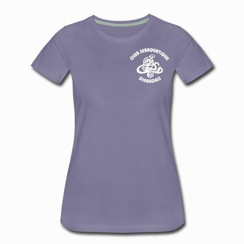 Logo CSD petit avec texte - T-shirt Premium Femme