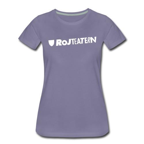 Tygkasse logga vit/svart - Premium-T-shirt dam