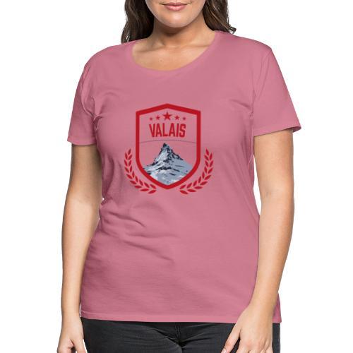 Walliser Logo mit dem Matterhorn - Frauen Premium T-Shirt