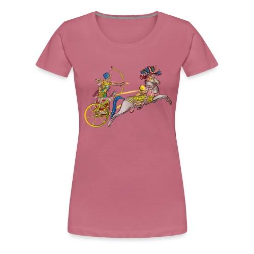 Pharao mit Streitwagen - Frauen Premium T-Shirt