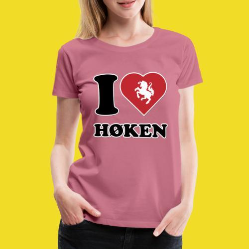 I love Høken - Vrouwen Premium T-shirt