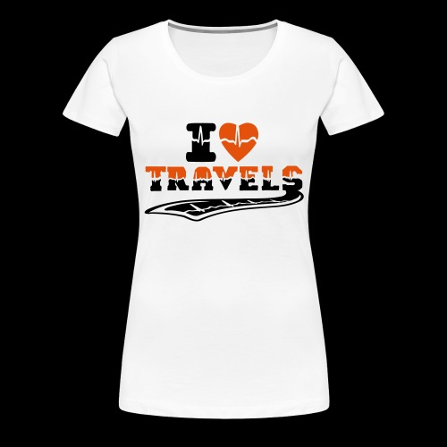 i love travels surprises 2 col - Women's Premium T-Shirt