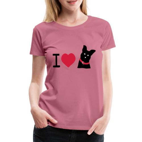 I love Dogs - Frauen Premium T-Shirt