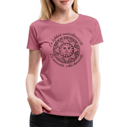 En tykkää aamuihmisistä en aamuista enkä ihmisistä - Naisten premium t-paita