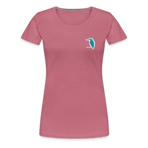 Eisvogel Fliegender Edelstein - Frauen Premium T-Shirt