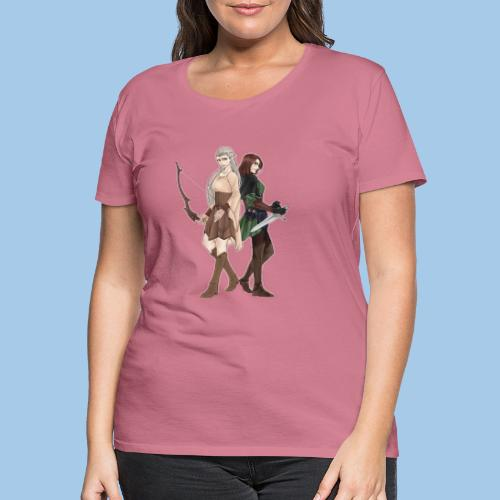 Double Trouble - Women's Premium T-Shirt