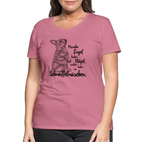 Kaninchen Hasen Zwergkaninchen Engel Liebe - Frauen Premium T-Shirt