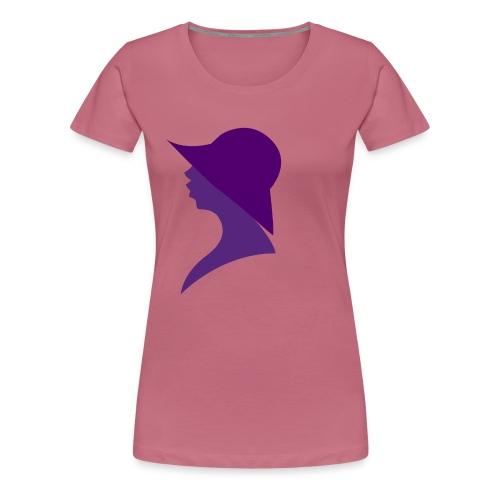 vrouw hoed - Vrouwen Premium T-shirt