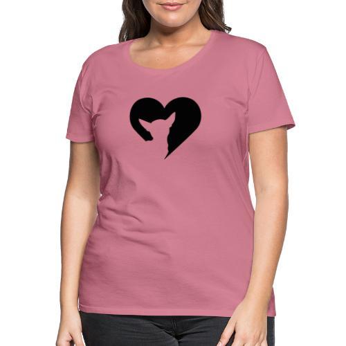 Chihuahua hart - Vrouwen Premium T-shirt