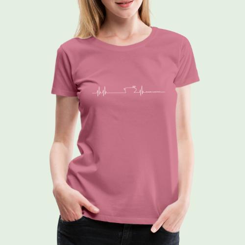 Herzschlag - Frauen Premium T-Shirt