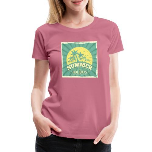 conception lettres ete - T-shirt Premium Femme