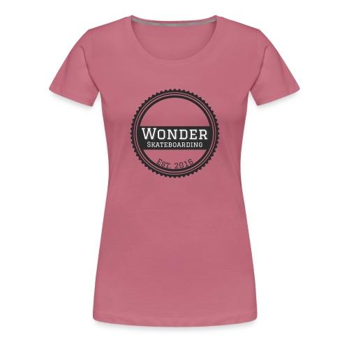 Wonder Longsleeve - round logo - Dame premium T-shirt