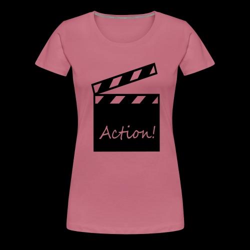 Kapuzen-Shirt aaand Action! - Frauen Premium T-Shirt