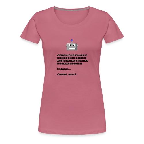 Salutation robotique - T-shirt Premium Femme