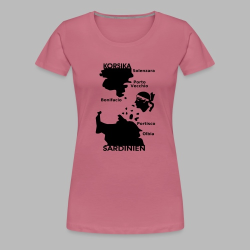 Korsika Sardinien Mori - Frauen Premium T-Shirt
