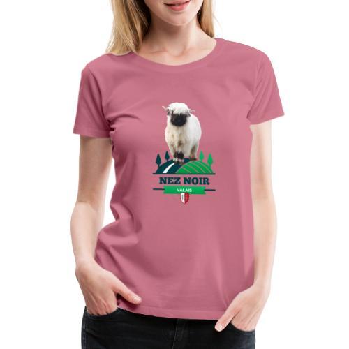 Mouton du Valais - Nez noir - Frauen Premium T-Shirt