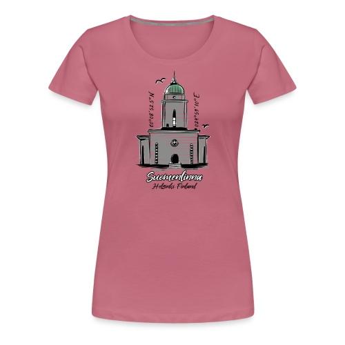 SUOMENLINNAN MAJAKKA KIRKKO Majakkatuotteet shop - Naisten premium t-paita