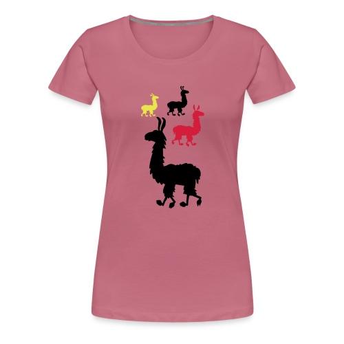 m-4lamas - Frauen Premium T-Shirt