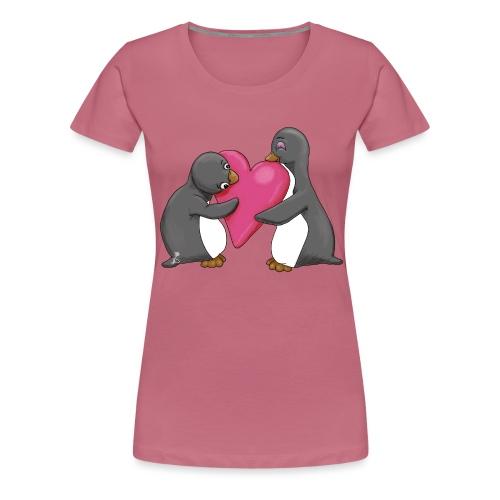 Pinguins geef me je hart - Vrouwen Premium T-shirt
