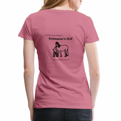Reimann's Hof - Connemarastute mit Fohlen - Frauen Premium T-Shirt