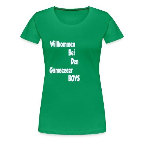 Begruessung Weiß - Frauen Premium T-Shirt