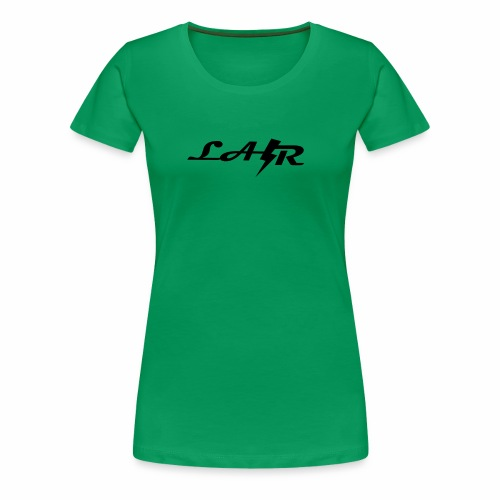 LaZr Lightning Bolt Text Logo - Women's Premium T-Shirt