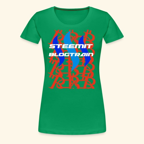 STEEMIT BLOGTRAIN - Women's Premium T-Shirt