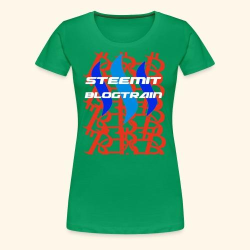 STEEMIT BLOGTRAIN - Women's Premium T-Shirt